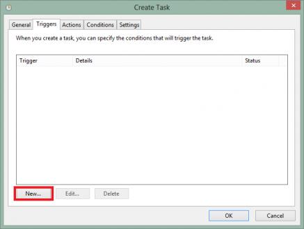 Configurar disparador para la tarea programada