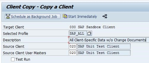 How to do a local client copy in SAP 6